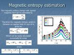 magnetic entropy estimation