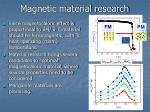 magnetic material research