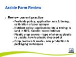 arable farm review