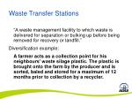 waste transfer stations