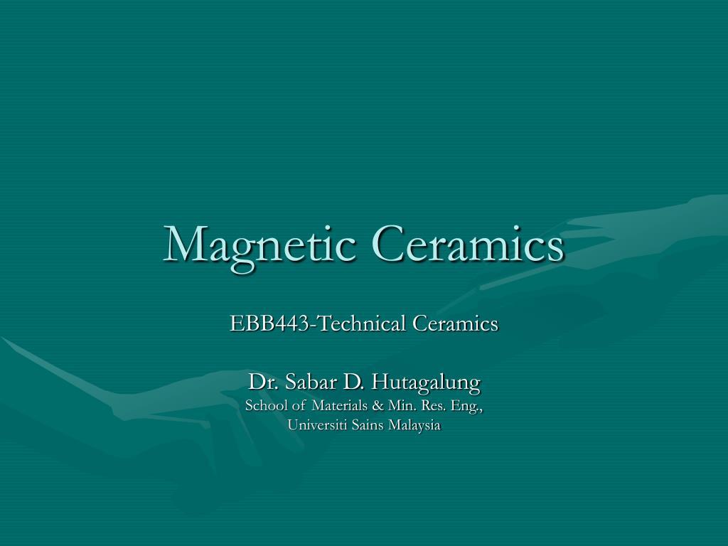 magnetic ceramics l.