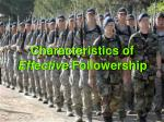 characteristics of effective followership