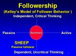 followership kelley s model of follower behavior