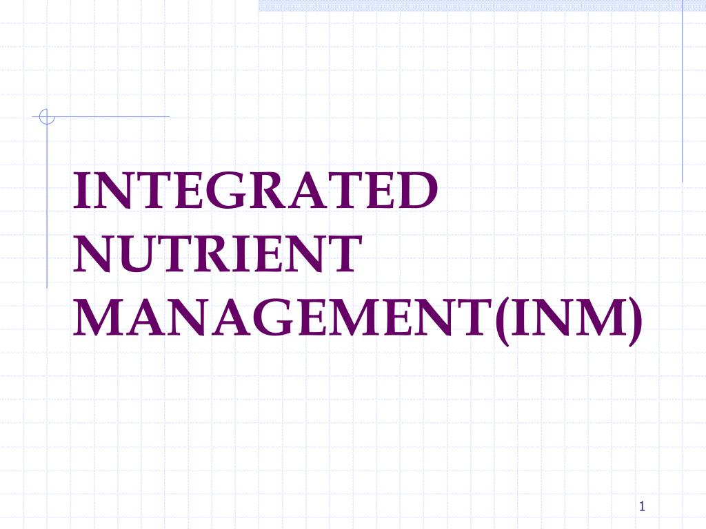 integrated nutrient management inm l.