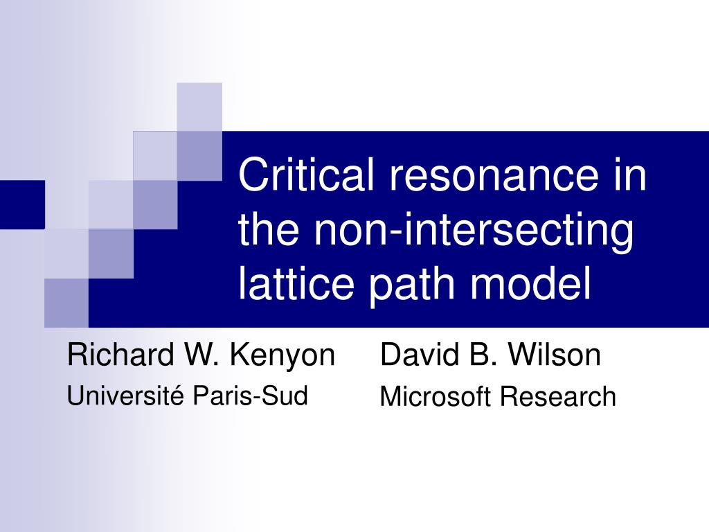 critical resonance in the non intersecting lattice path model l.