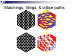 matchings tilings lattice paths