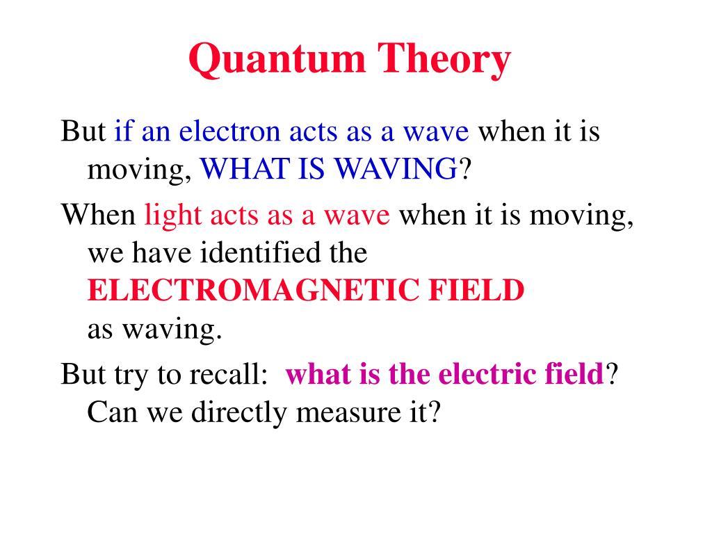 quantum theory l.
