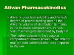 ativan pharmacokinetics