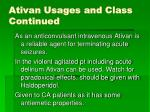 ativan usages and class continued23