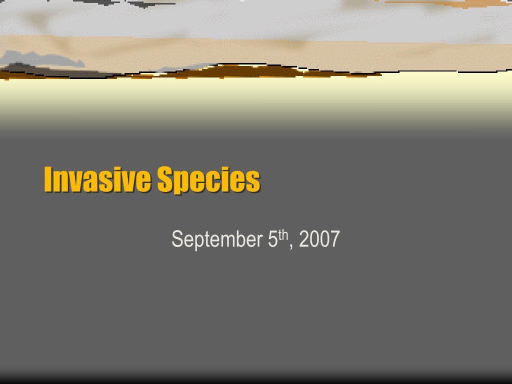 invasive species l.