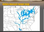 zebra mussel range map