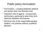 public policy formulation