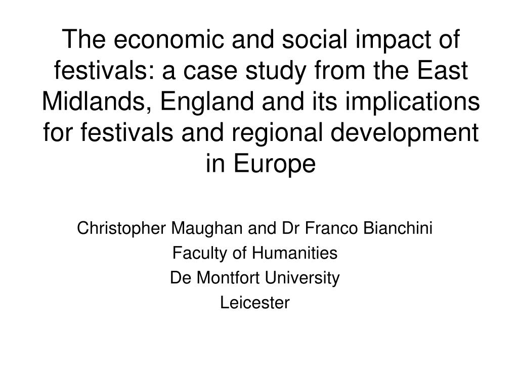 christopher maughan and dr franco bianchini faculty of humanities de montfort university leicester l.