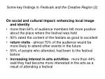 some key findings in festivals and the creative region 2