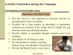 activities undertaken during the campaign