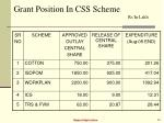 grant position in css scheme rs in lakh