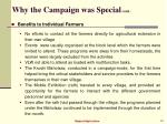 why the campaign was special cont23