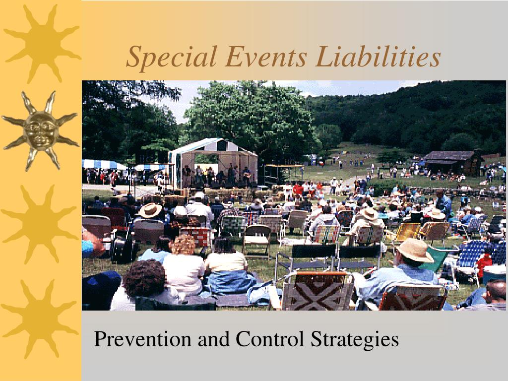 special events liabilities l.