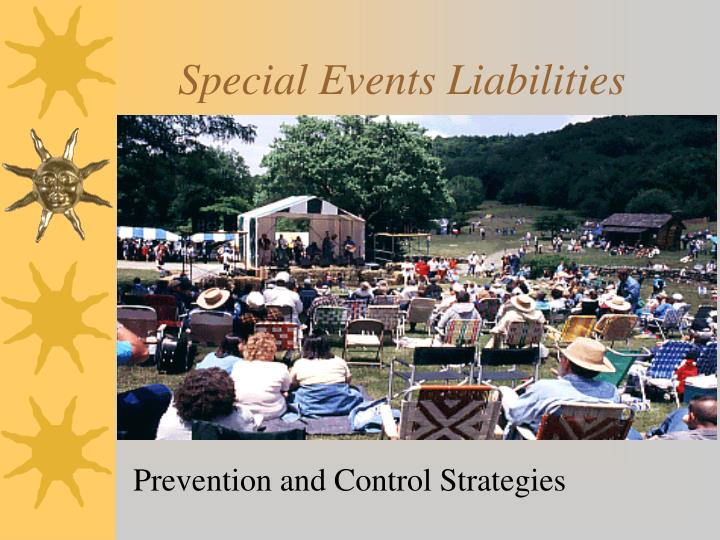 special events liabilities n.