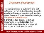 dependent development