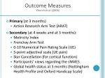 outcome measures church et al 2006