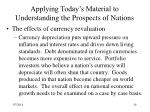 applying today s material to understanding the prospects of nations