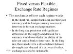 fixed versus flexible exchange rate regimes10