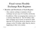 fixed versus flexible exchange rate regimes17