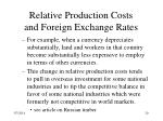 relative production costs and foreign exchange rates20