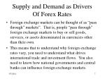 supply and demand as drivers of forex rates