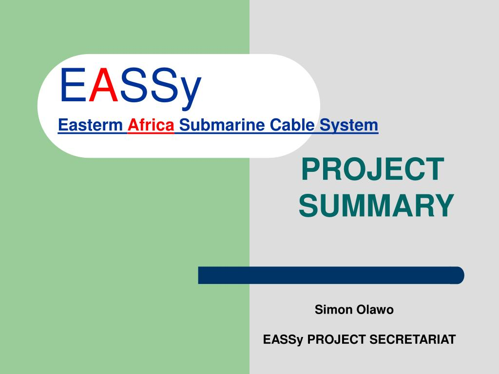e a ssy easterm africa submarine cable system l.