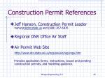 construction permit references