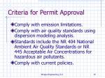criteria for permit approval