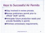 keys to successful air permits