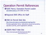 operation permit references