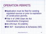 operation permits