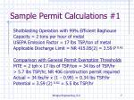 sample permit calculations 1