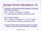 sample permit calculations 21
