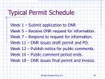 typical permit schedule