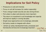 implications for soil policy