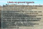 likely on ground impacts