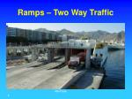 ramps two way traffic