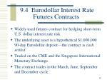 9 4 eurodollar interest rate futures contracts
