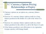 9 7 currency option pricing relationships at expiry