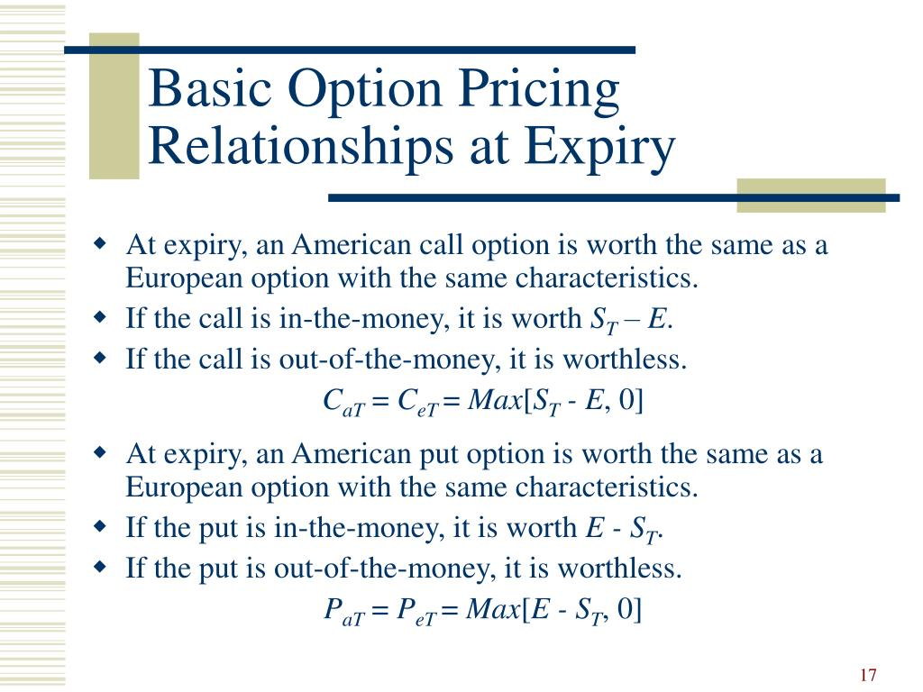 Basic Option Pricing
