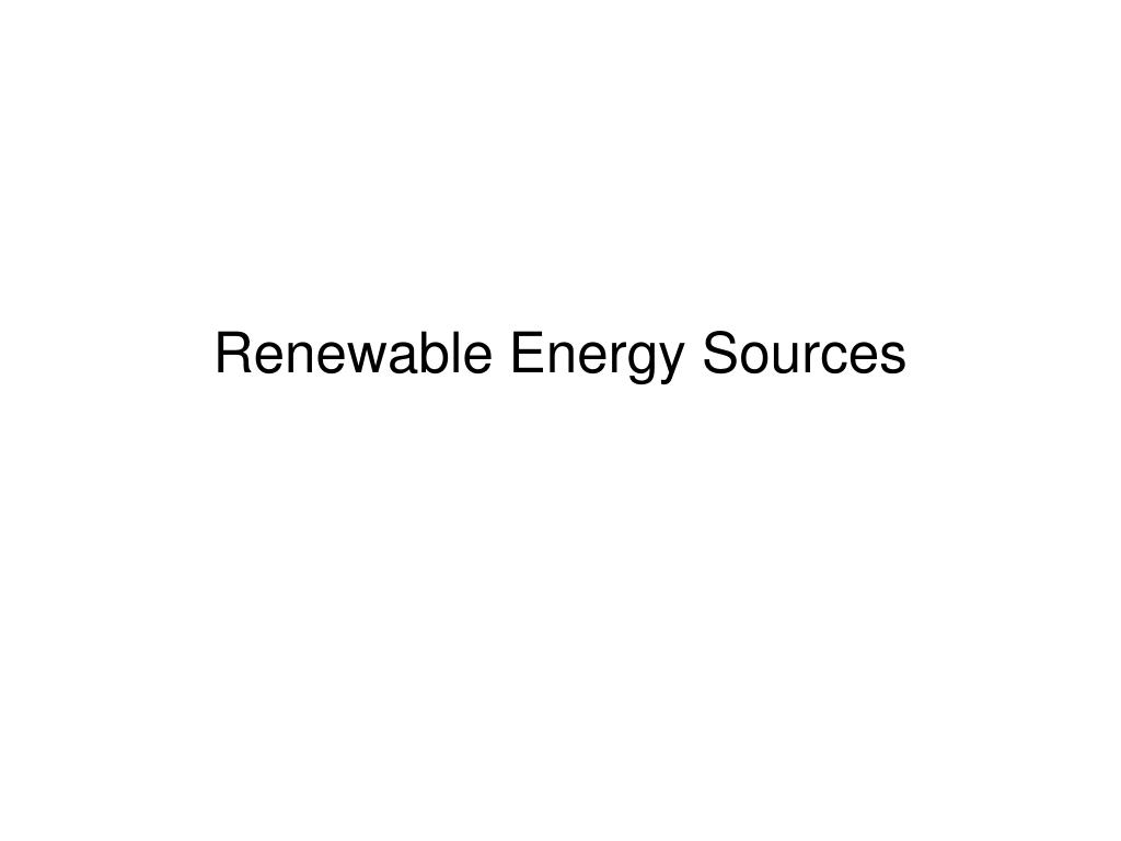 renewable energy sources l.