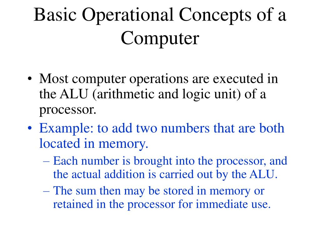 basic operational concepts of a computer l.