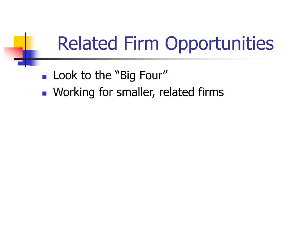 Related Firm Opportunities