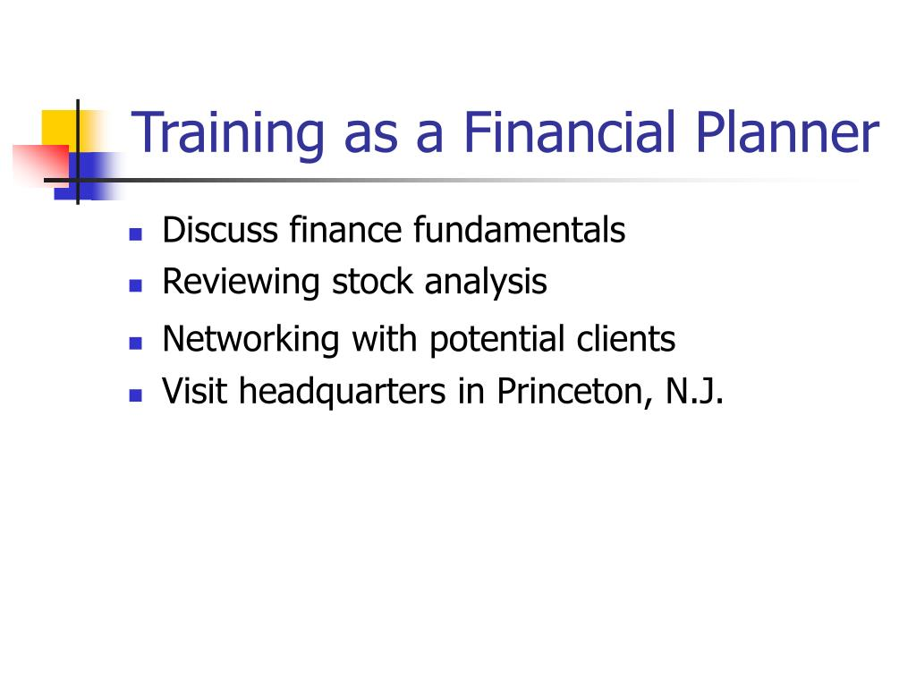 Training as a Financial Planner