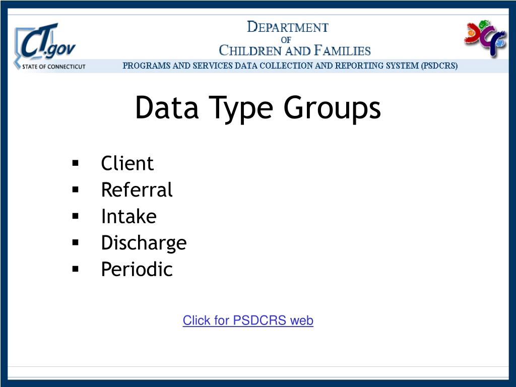 Data Type Groups